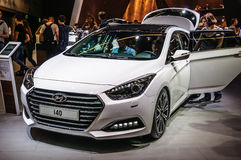 FRANKFURT - SEPT. 2015: Hyundai i40 dat bij IAA Internationa wordt voorgesteld Royalty-vrije Stock Afbeeldingen