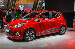 FRANKFURT - SEPT 2015: Hyundai i10 presented at IAA Internationa Stock Photography