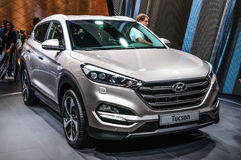 FRANKFURT - SEPT 2015: Hyundai Tucson presented at IAA Internati Stock Images
