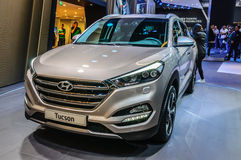 FRANKFURT - SEPT 2015: Hyundai Tucson presented at IAA Internati Stock Image