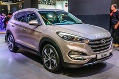 FRANKFURT - SEPT 2015: Hyundai Tucson presented at IAA Internati Royalty Free Stock Photography