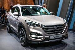 FRANKFURT - SEPT 2015: Hyundai Tucson przedstawiający przy IAA Internati obrazy stock