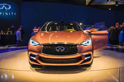 FRANKFURT - SEPT 21: INIFINITY Q50 presented as world premiere a stock photo