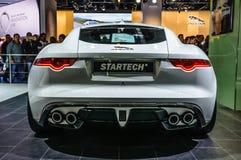 FRANKFURT - SEPT. 2015: Jaguar-F-Type Startech bij IAA I wordt voorgesteld die Stock Foto