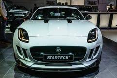 FRANKFURT - SEPT. 2015: Jaguar-F-Type Startech bij IAA I wordt voorgesteld die Stock Afbeelding