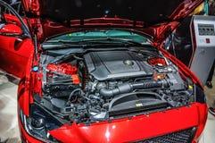 FRANKFURT - SEPT 2015: Jaguar XFR presented at IAA International Stock Photo