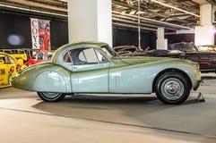 FRANKFURT - SEPT. 2015: Jaguar xk-120 bij IAA Internatiol wordt voorgesteld die Stock Foto