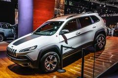 FRANKFURT - SEPT 2015: Jeep Cherokee presented at IAA International Motor show Royalty Free Stock Photos