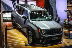 FRANKFURT - SEPT. 2015: Jeep Renegadepresented bij Internationale de Motorshow van IAA Stock Foto