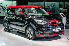 FRANKFURT - SEPT 2015: Kia Soul EV presented at IAA Internationa Stock Image