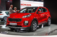 FRANKFURT - SEPT 2015: KIA Sportage GT Line presented at IAA Int Stock Images