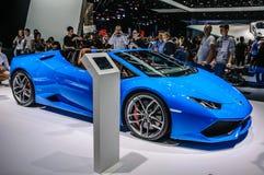 FRANKFURT - SEPT. 2015: Lamborghini HURACAN LP prese 610-4 SPYDER Royalty-vrije Stock Foto