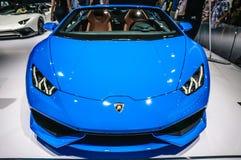 FRANKFURT - SEPT. 2015: Lamborghini HURACAN LP prese 610-4 SPYDER Stock Afbeeldingen