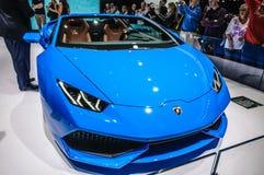 FRANKFURT - SEPT 2015: Lamborghini Huracan LP 610-4 Spyder prese Stock Photography