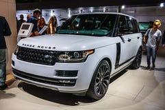 FRANKFURT - SEPT. 2015: Land Rover Range Rover bij IAA I wordt voorgesteld die Royalty-vrije Stock Foto's