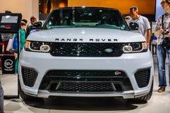 FRANKFURT - SEPT. 2015: Land Rover Range Rover bij IAA I wordt voorgesteld die Royalty-vrije Stock Foto