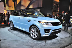 FRANKFURT - SEPT 14: Land Rover Range Rover presented as world p Royalty Free Stock Photos
