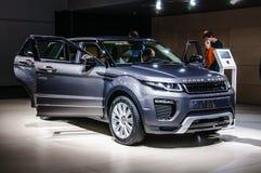 FRANKFURT - SEPT. 2015: Land Rover Range Rover Sport wordt voorgesteld die bij Royalty-vrije Stock Foto