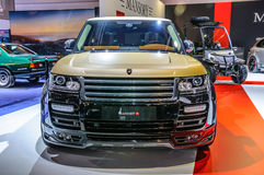 FRANKFURT - SEPT 2015: Land Rover Range Rover sporta Mansory pres Fotografia Stock