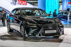 FRANKFURT - SEPT 2015: Lexus GS450h presented at IAA Internation Royalty Free Stock Photography