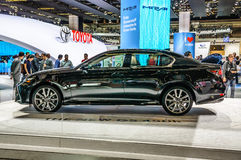 FRANKFURT - SEPT 2015: Lexus GS450h presented at IAA Internation Royalty Free Stock Photo