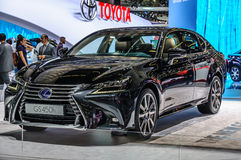 FRANKFURT - SEPT 2015: Lexus GS450h presented at IAA Internation Royalty Free Stock Images