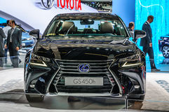 FRANKFURT - SEPT 2015: Lexus GS450h presented at IAA Internation Stock Photos