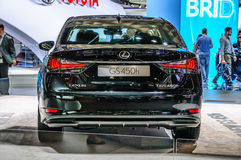 FRANKFURT - SEPT 2015: Lexus GS450h presented at IAA Internation Royalty Free Stock Photos