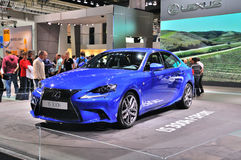 FRANKFURT - SEPT 14: Lexus IS 300h presented as world premiere a Royalty Free Stock Photos