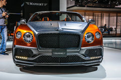 FRANKFURT - SEPT 2015: Mansory Bentley Continental GTC presented Stock Image