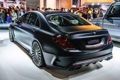 FRANKFURT - SEPT 2015: MANSORY BLACK EDITION Mercedes S Class AM Royalty Free Stock Image