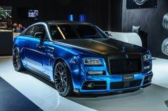 FRANKFURT - SEPT 2015: MANSORY BLEURION Rolls-Royce Wraith prese Stock Photos
