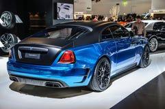 FRANKFURT - SEPT 2015: MANSORY BLEURION Rolls-Royce Wraith prese Royalty Free Stock Photo