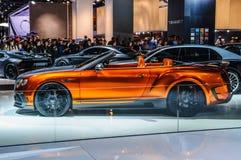 FRANKFURT - SEPT 2015: Mansory framlade Bentley Continental GTC royaltyfria foton