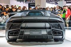 FRANKFURT - SEPT. 2015: MANSORY TOROFEO Lamborghini prese Huracan Royalty-vrije Stock Foto