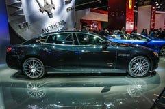 FRANKFURT - SEPT 2015: Maserati Quattroporte presented at IAA International Motor Show Royalty Free Stock Photography