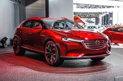 FRANKFURT - SEPT 2015: Mazda Koeru begrepp som framläggas på IAA Inte Royaltyfri Bild