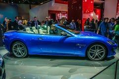FRANKFURT - SEPT. 2015: MC van Maserati GranTurismo Honderdjarige Uitgave Stock Foto's