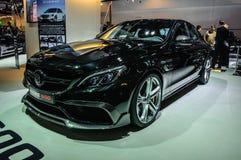 FRANKFURT - SEPT. 2015: Mercedes-AMG GT Brabus 600 bij I wordt voorgesteld die Stock Foto's