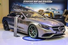 FRANKFURT - SEPT 2015: Mercedes-Benz C 63 AMG presented at IAA I Stock Photography