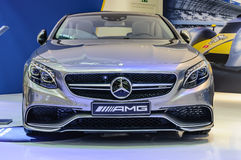 FRANKFURT - SEPT 2015: Mercedes-Benz C 63 AMG presented at IAA I Royalty Free Stock Photo