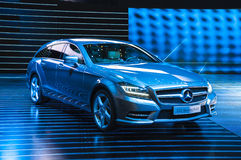 FRANKFURT - SEPT 21: Mercedes-Benz CLS Shooting Brake presented Stock Photo