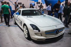 FRANKFURT - SEPT 21: MERCEDES-BENZ SLS AMG presented as world pr Stock Image