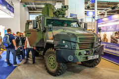 FRANKFURT - SEPT 2015: Mowag Eagle V Bundeswehr military car pre Stock Images