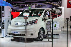 FRANKFURT - SEPT 2015: Nissan e-NV200 presented at IAA Internati Royalty Free Stock Photography