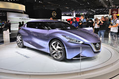 FRANKFURT - SEPT 14: Nissan Friend-ME Concept presented as world Royalty Free Stock Photo