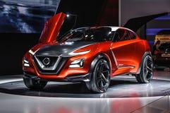 FRANKFURT - SEPT. 2015: Nissan Gripz Concept bij IAA Int. wordt voorgesteld dat Royalty-vrije Stock Foto's