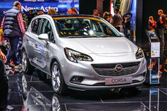 FRANKFURT - SEPT 2015: Opel Corsa presented at IAA International Stock Image