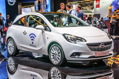 FRANKFURT - SEPT 2015: Opel Corsa presented at IAA International Royalty Free Stock Photo