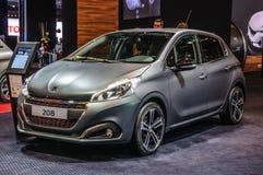 FRANKFURT - SEPT. 2015: Peugeot 208 bij IAA Internationa wordt voorgesteld die Stock Afbeelding